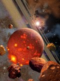 The Primordial Earth Being Formed by Asteroid-Like Bodies