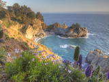 Mcway Falls at Julia Pfieffer Burns State Park Near Big Sur  California  USA