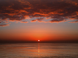 A Layer of Clouds Is Lit by the Rising Sun over Rio De La Plata  Buenos Aires  Argentina