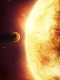 A Growing Sun About to Burn a Nearby Planet