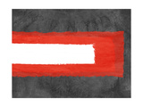 Grey and Red Abstract 6