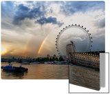 Rainbow over the London Eye