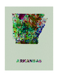 Arkansas Color Splatter Map