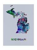 Michigan Color Splatter Map
