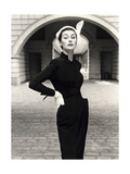 Anne Gunning in a Velveteen Evening Coat  1952
