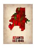 Atlanta Watercolor Map
