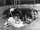 Outing with a car  1930