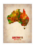 Australia Watercolor Map
