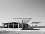 Arizona Deserted Gas Station Architecture Landscape  Two Guns Ghost Town in Black and White 3