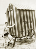 Bathing hut in the USA  1925