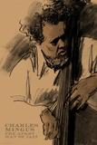 Charles Mingus Reproduction d'art par Clifford Faust