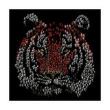 Chinese Character Tiger Reproduction d'art