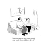 """""""Sometimes  you just have to ask yourself  what would Dante de Blasio's A…"""" - Cartoon"""