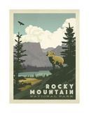 Parc national de Rocky Mountain Reproduction d'art par Anderson Design Group