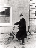 Michael Collins (1870-1922) with His Famous Bicycle