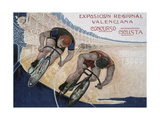 Publicity Poster for the Valencian Regional Exposition Cycling Contest  1909