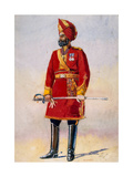 The Commandant of the Bharatpur Infantry  Illustration for 'Armies of India' by Major GF…