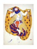 Costume Design for a Dancer in 'Scheherazade'  a Ballet First Produced by Diaghilev