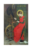St Elizabeth of Hungary Spinning Wool for the Poor  C 1895