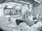 Interior of a Hat Mill  Victoria  c1900  from 'Under the Southern Cross -