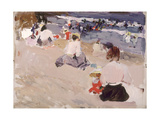 People Sitting on the Beach  1906