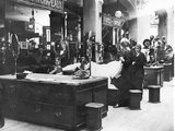 Women Working for the Wounded Soldiers in the Department Stores in Paris  1914