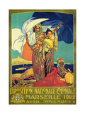 Poster Advertising the 'Exposition Nationale Coloniale'  Marseille  April to November 1922