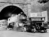 A Locomotive Being Transported under the Forth and Clyde Canal at Rockvilla  1955