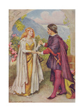 Hamlet and Ophelia from 'Children's Stories from Shakespeare' by Edith Nesbit (1858-1924) Pub by…