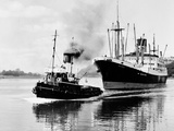 Steel and Bennie's Tug 'Brigadier' in Action  1955