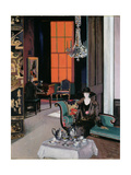 Interior - the Orange Blind  c1928