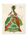 Costume for a Female Courtier and Dancer  from Sleeping Beauty  1921