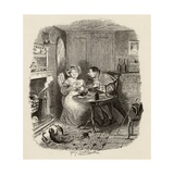 Mr Bumble and Mrs Corney Taking Tea  from 'The Adventures of Oliver Twist' by Charles Dickens…