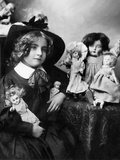Young Girl with China Dolls  c1905