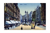 Postcard Depicting the Graben in Vienna  c1910