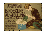 German Advertisement for a Floristry Exhibition in Berlin  Printed by Curt Behrends Und Co …