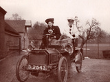 Female Driving an Early Motorcar  c1900