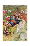 "Titania and Bottom in ""A Midsummer's Night Dream"" from 'Children's Stories from Shakespeare' by…"