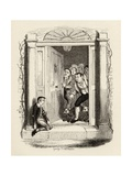 Oliver Twist at Mrs Maylie's Door  from 'The Adventures of Oliver Twist' by Charles Dickens…