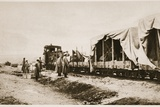 The Russian Army's Travelling Facilities for War Correspondents: Newspaper Men at Work in One of…