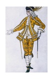 Costume Design for the Fairy Canary's Pageboy  from Sleeping Beauty  1921