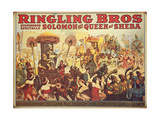 Poster Advertising the 'Ringling Bros' Circus  c1900