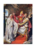 The Marriage of King Arthur and Queen Guinevere  Illustration for 'Children's Stories from…