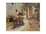 Farm Yard Scene  1905