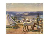 Camp at Malbuison  Near Pontarlier  c1918