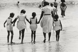 Mother and 4 Daughters Entering Water at Coney Island  Untitled 37  c1953-64