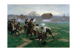 The Battle of Lexington  19th April 1775  1910
