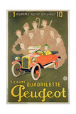 Advertisement for the Peugeot Quadrilette
