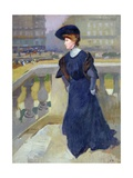 Madame Renoux on the Steps of the Trinity Church  1904
