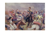The Charge of the Heavy Brigade Against the French Cuirassiers at Waterloo  from 'British Battles…